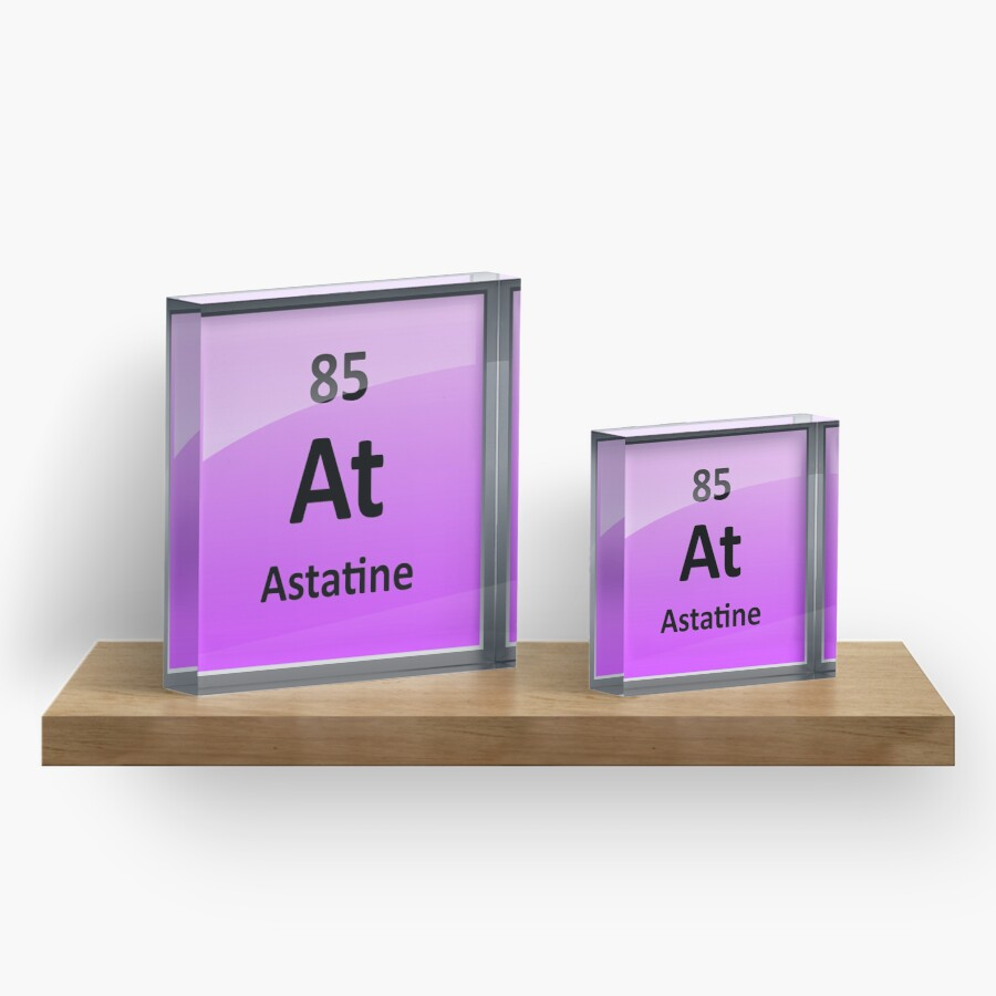 Astatine periodic table element symbol acrylic blocks by astatine periodic table element symbol gamestrikefo Image collections