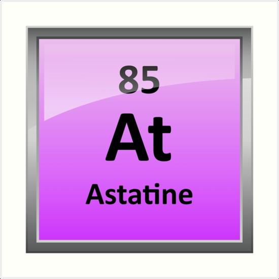 Astatine periodic table element symbol art prints by sciencenotes astatine periodic table element symbol by sciencenotes urtaz Image collections