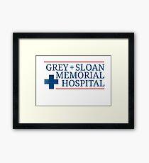 Grey + Sloan Memorial Hospital Framed Print