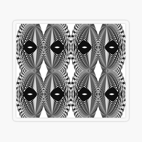 Abstract White and Black Template Transparent Sticker