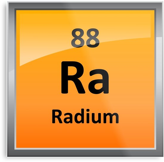 Radium Periodic Table Element Symbol Metal Prints By Sciencenotes