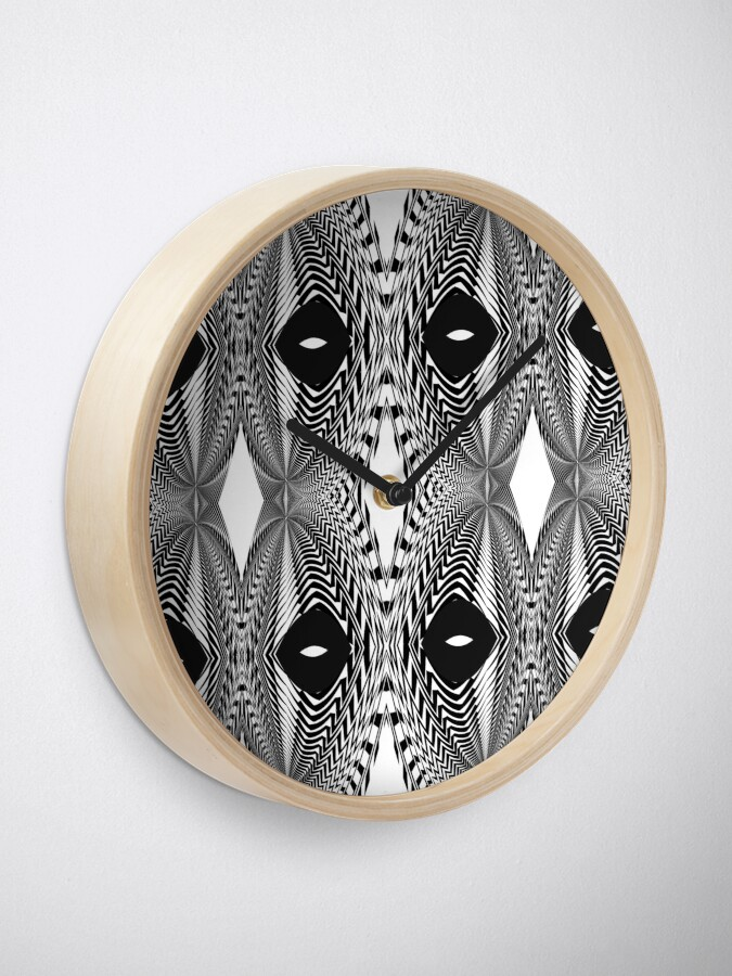 Alternate view of Abstract White and Black Template Clock