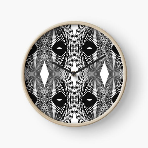 Abstract White and Black Template Clock