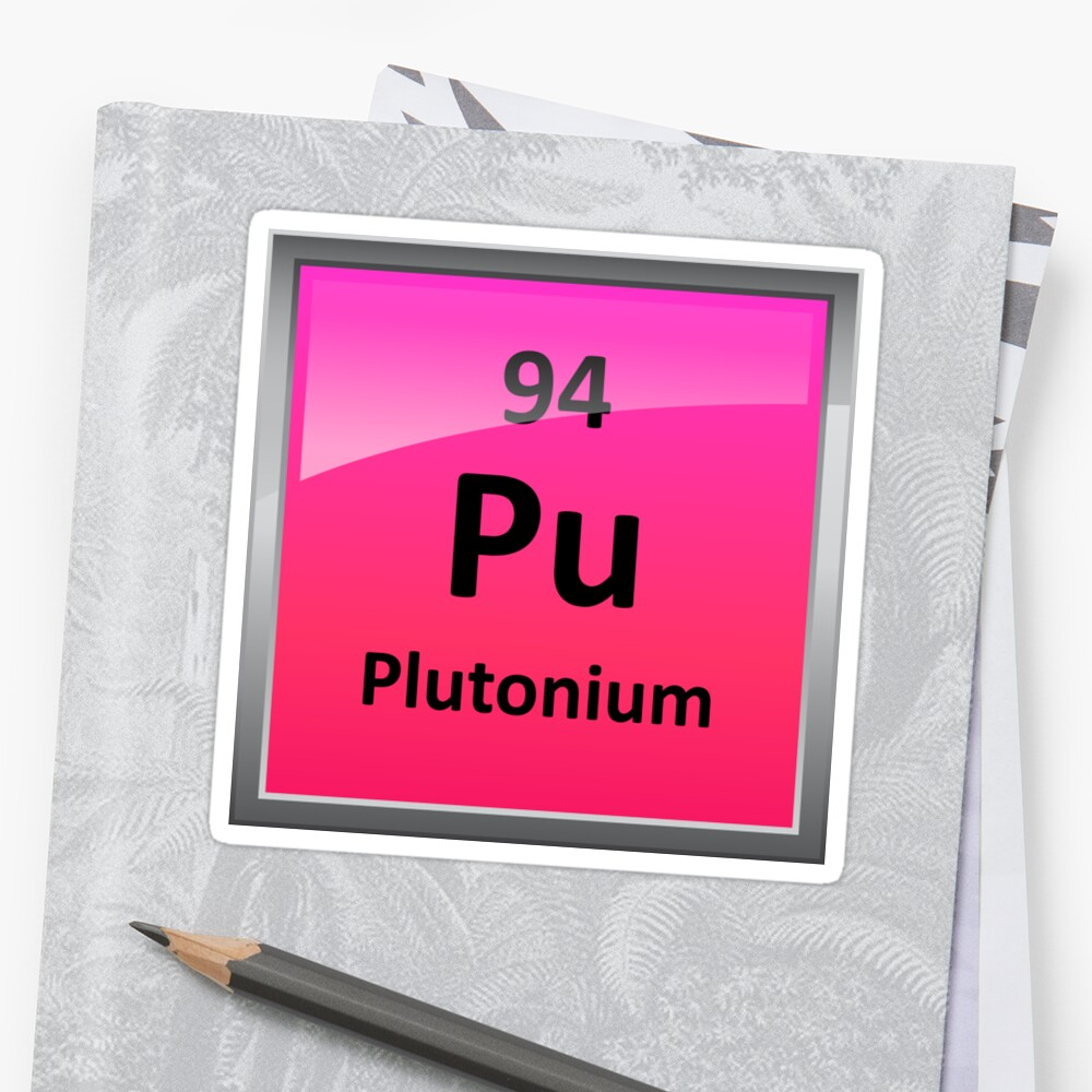 Plutonium periodic table element symbol stickers by sciencenotes plutonium periodic table element symbol by sciencenotes gamestrikefo Image collections