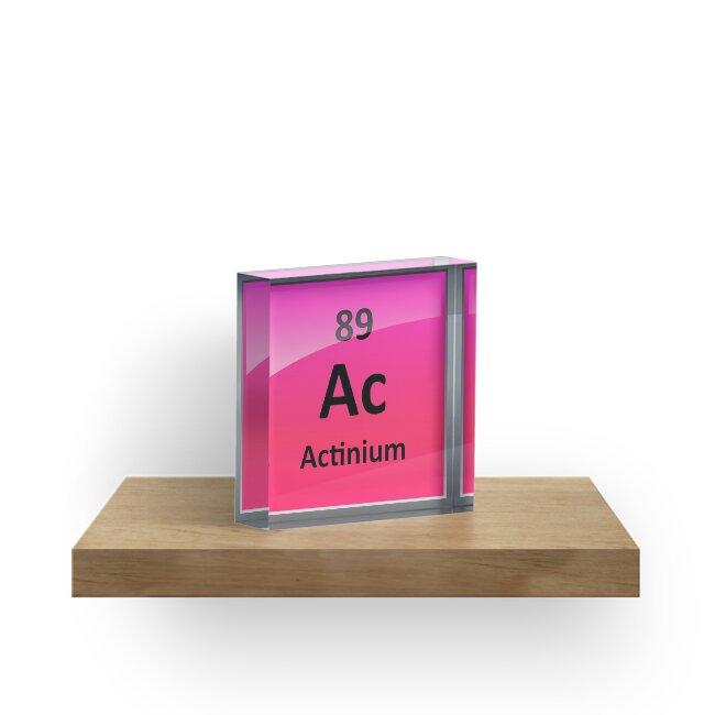 Actinium Periodic Table Element Symbol Acrylic Blocks By