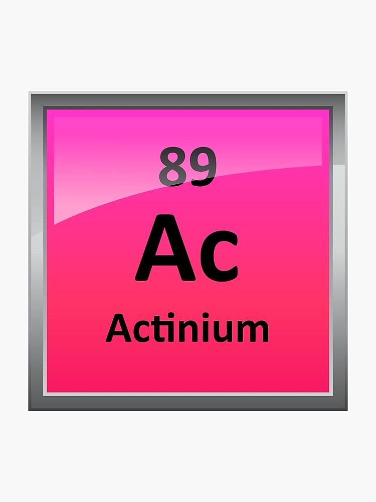 Actinium Periodic Table Element Symbol | Photographic Print