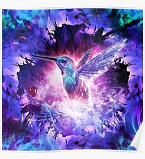 Hummingbird Love Poster