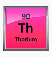 Thorium Periodic Table Element Symbol Photographic Print