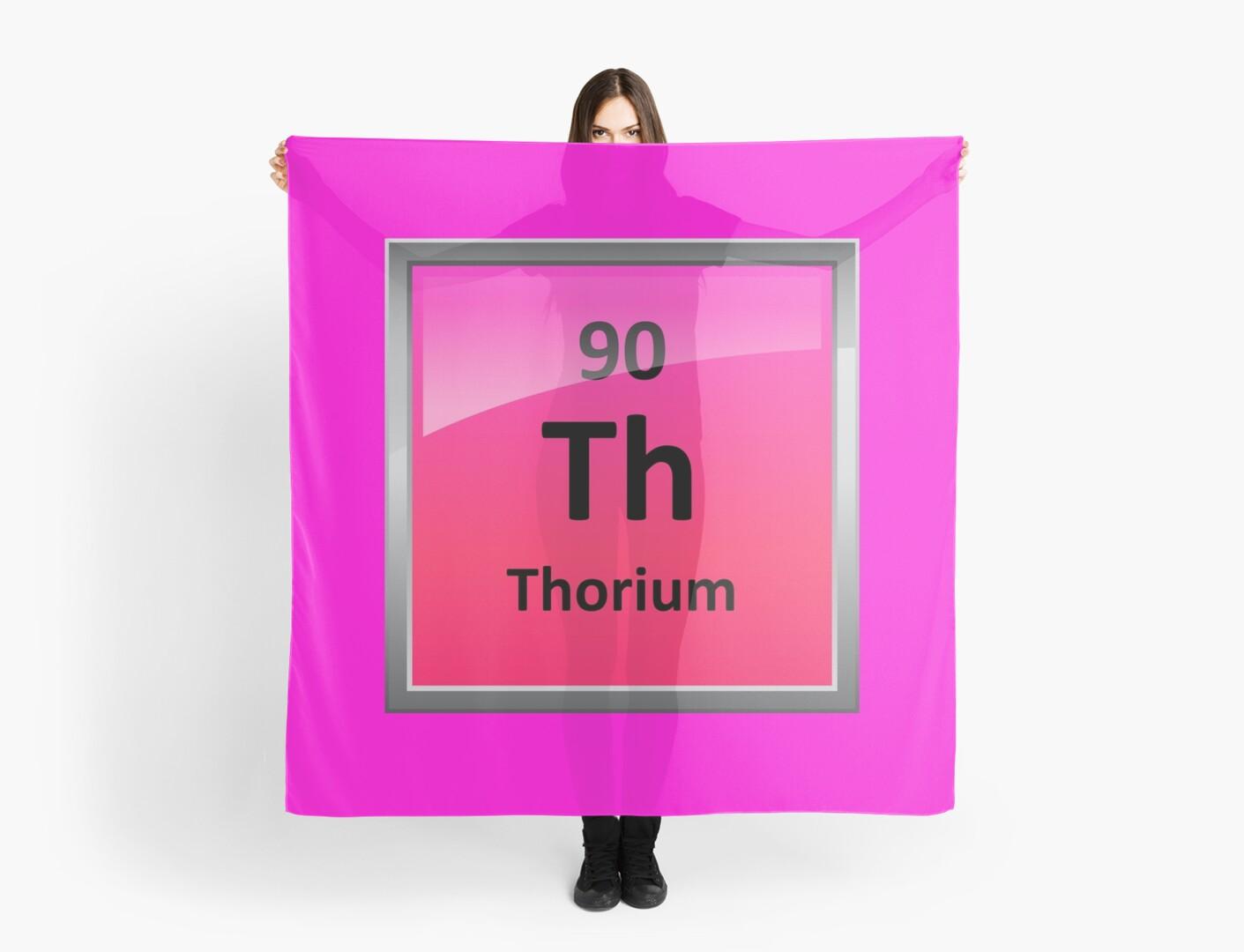 Thorium Periodic Table Element Symbol Scarves By Sciencenotes