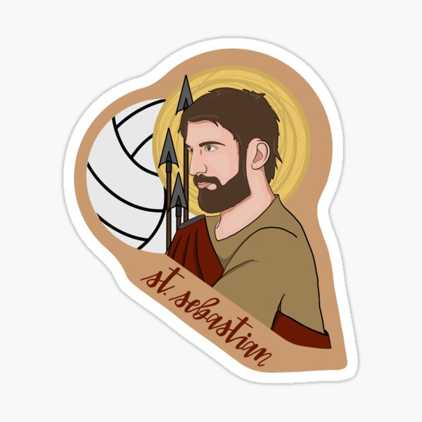 St. Sebastian (Volleyball) Sticker