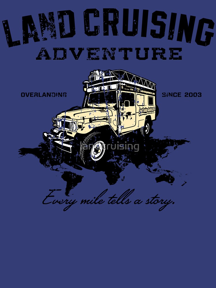 Every Mile Tells a Story - dark print by landcruising