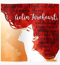 Aelin Fireheart Quote Poster