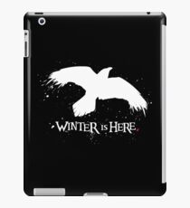 Winter is Here - Large Raven on Black iPad Case/Skin