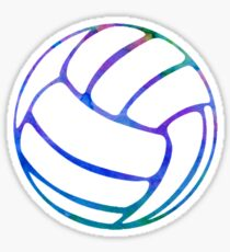 Pegatina Voleibol Acuarela