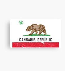 Lienzo República de Cannabis de la vendimia