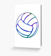 Volleyball Watercolor Greeting Card