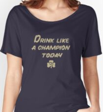 Drink Like a Champion - South Bend Style Dark Blue Women's Relaxed Fit T-Shirt