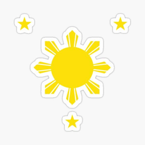 3 Sterne und die Sonne Sticker