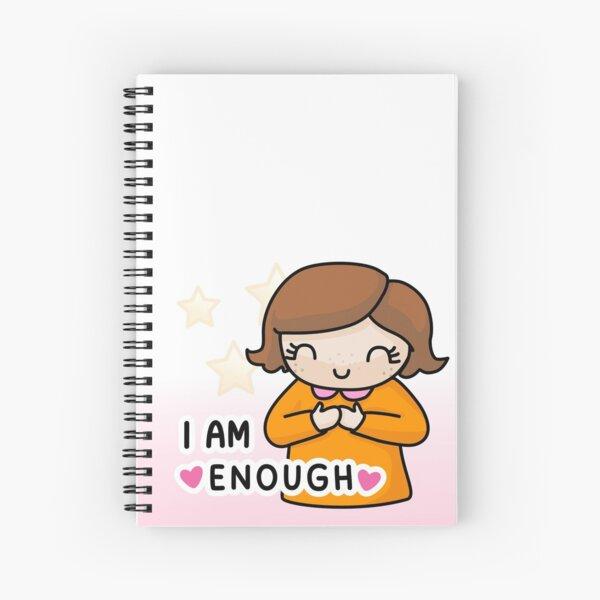 Lumerina – I am enough <3 Spiral Notebook