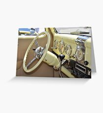 Dash and Steering 1936 Ford  Greeting Card