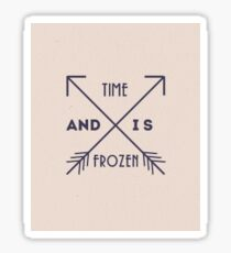 One Direction - And Time Is Frozen Sticker