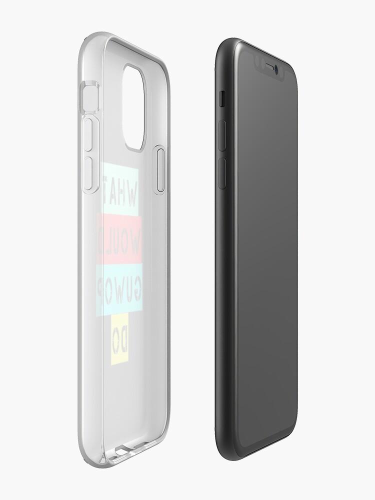 coque iphone x à pois , Coque iPhone «Que ferait Guwop Do - WWGD», par teedesiigner