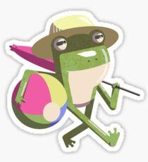 Benjamin Frog the Beach Bum Sticker