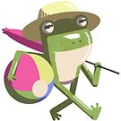 Benjamin Frog the Beach Bum by Kyle Armstrong