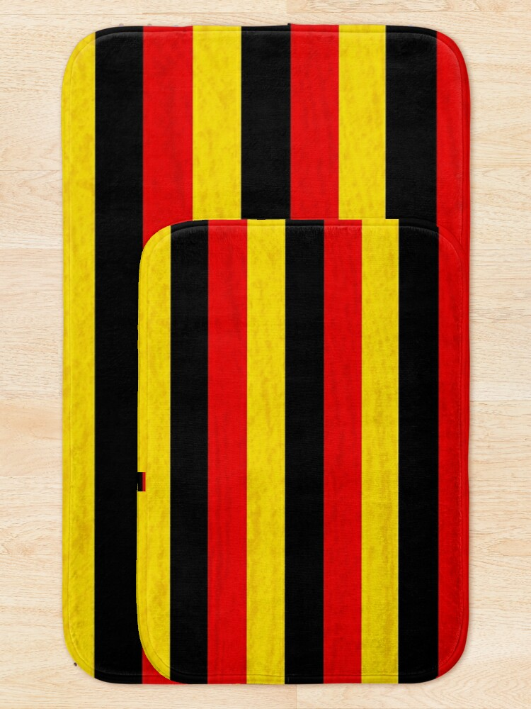 Alternate view of BLACK, RED, YELLOW/SAMER BRASIL Bath Mat