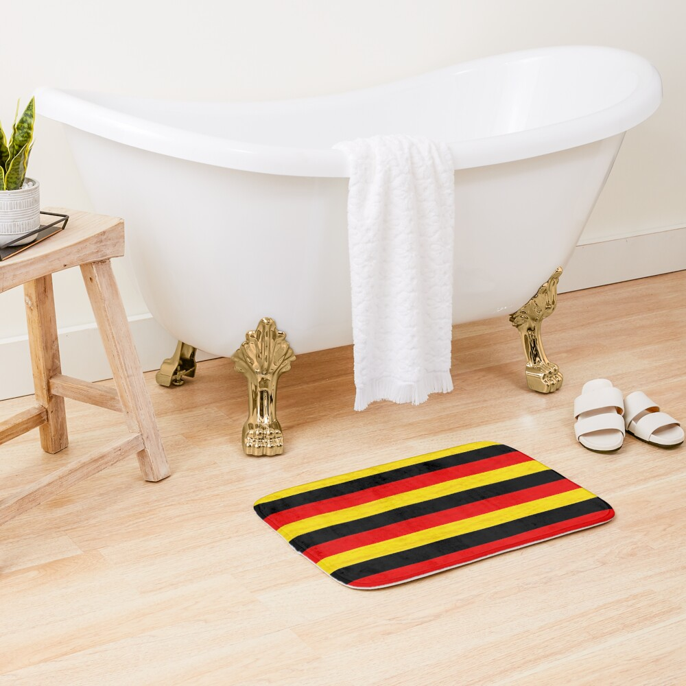 BLACK, RED, YELLOW/SAMER BRASIL Bath Mat
