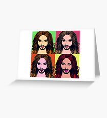 Conchita Wurst - Pop Art Greeting Card
