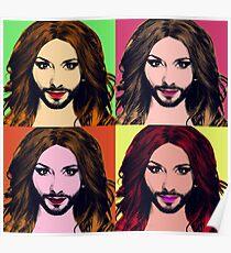 Conchita Wurst - Pop Art Poster