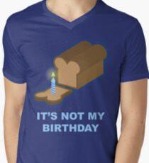 It's Not My Birthday (Blue) Men's V-Neck T-Shirt
