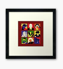 Collectible Characters Framed Print