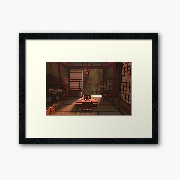 Serenity - Edo period home Framed Art Print