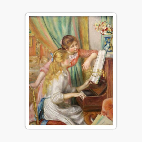 Young Girls at the Piano (1892) - Auguste Renoir Sticker