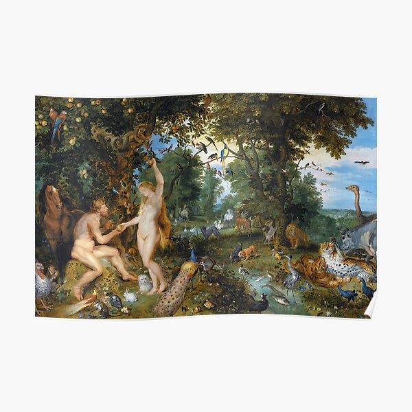 Brueghel Rubens Adam and Eve at Paradise Poster