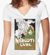 Vintage Narcoti-cure Advertising 1895 - William Bradley Women's Fitted V-Neck T-Shirt