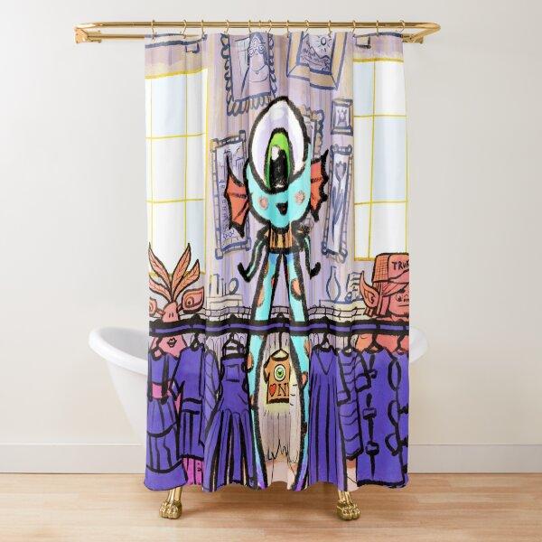Thrift Store Alien  Shower Curtain