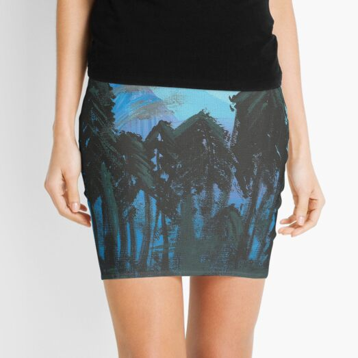 At Night In The Woods Mini Skirt