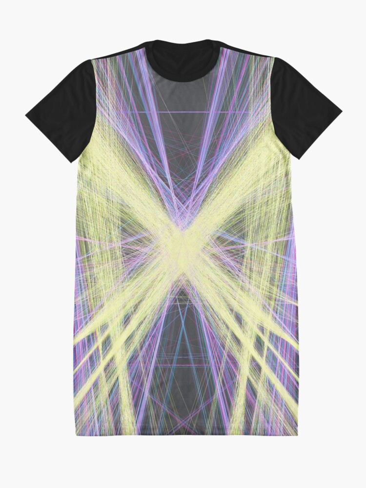 Alternate view of Linify Yellow butterfly Graphic T-Shirt Dress