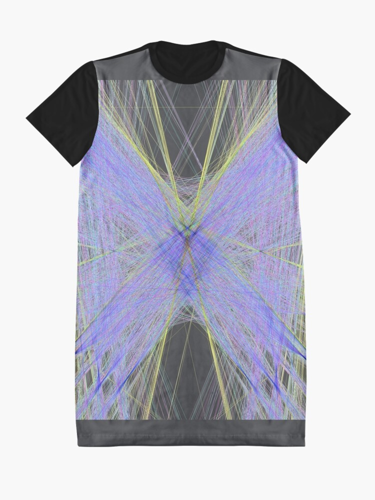 Alternate view of Violet Butterfly Graphic T-Shirt Dress