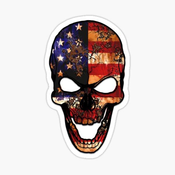 skull flag american Sticker