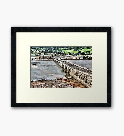 Shaldon Bridge Framed Print