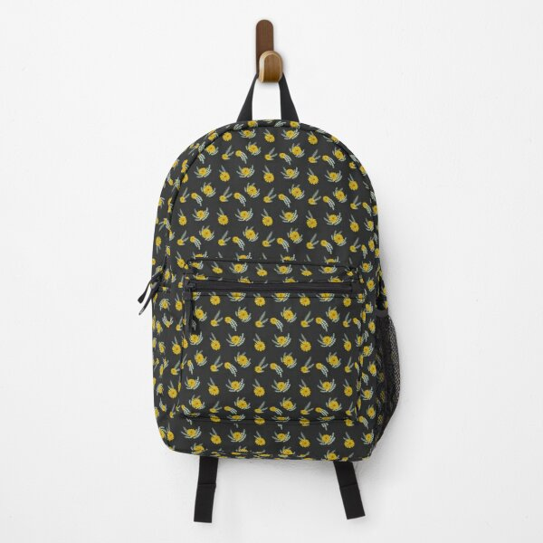 Dandelions Rosemary and Thyme Black Background  Backpack