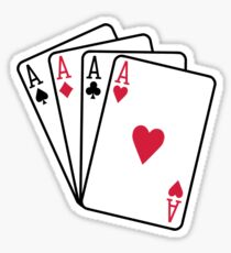 Poker aces gambling Sticker