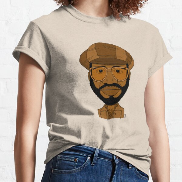Portrait dessiné de chanteur Soul/Gospel. T-shirt classique
