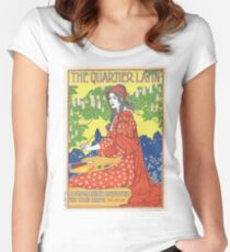 Vintage The Quater Latin 1893 - Louis Rhead Women's Fitted Scoop T-Shirt