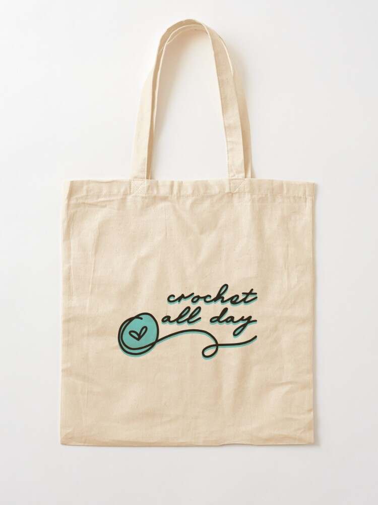 Alternate view of crochet all day Tote Bag