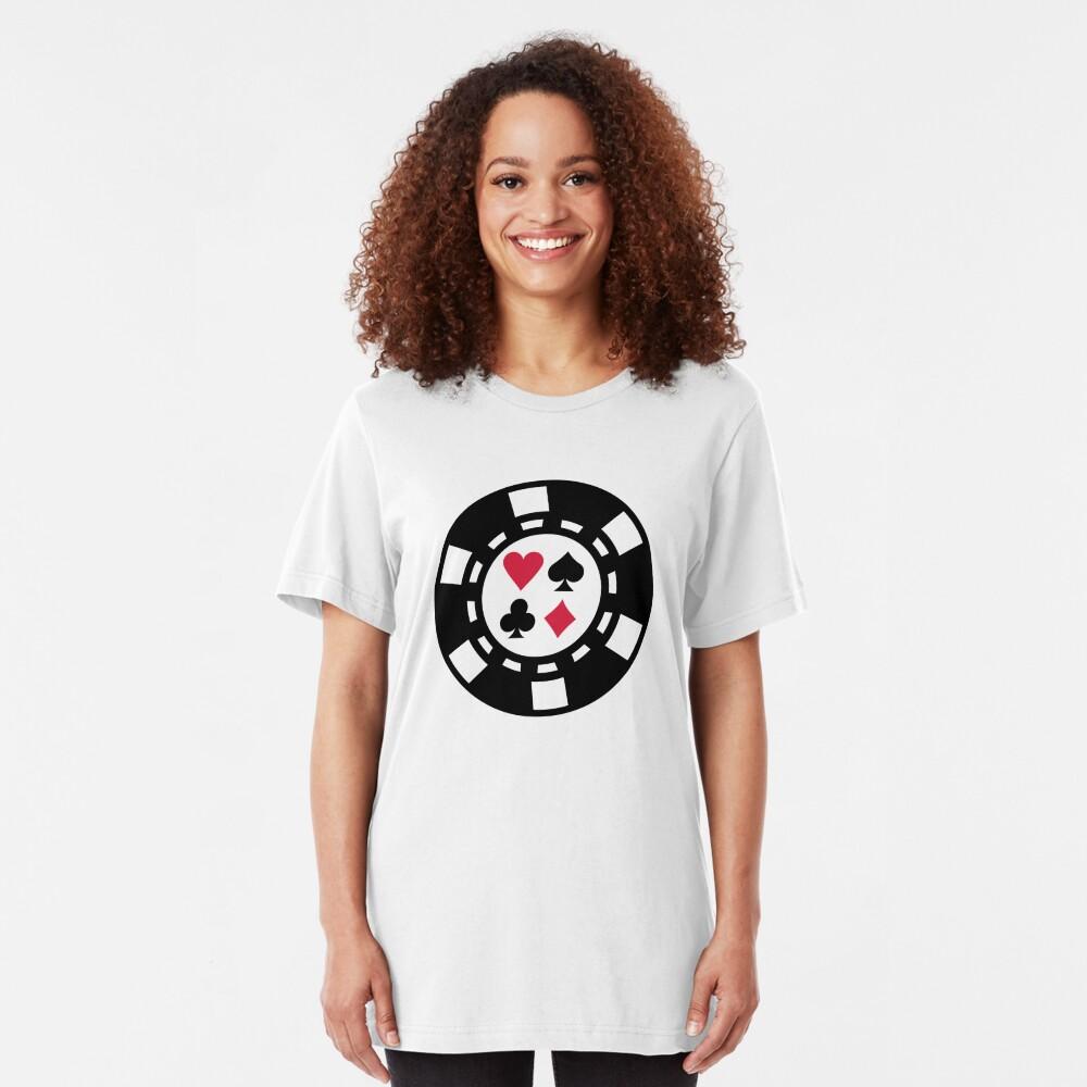 Poker chips casino Slim Fit T-Shirt
